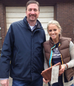 "This Thursday (Feb. 19), tile designed by New Lexington based company Ludowici will be featured on HGTV's program ""Rehab Addict"" staring Nicole Curtis, who is shown with Bob Andrus, national account and business development manager at Ludowici. Andrus says the crew from the show worked with him on creating the product for a classic Tudor-style home in Detroit. Andrus traveled to the job site where he met Curtis."