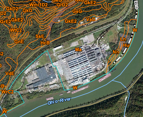 Ohio River Site wetland map thumbnail