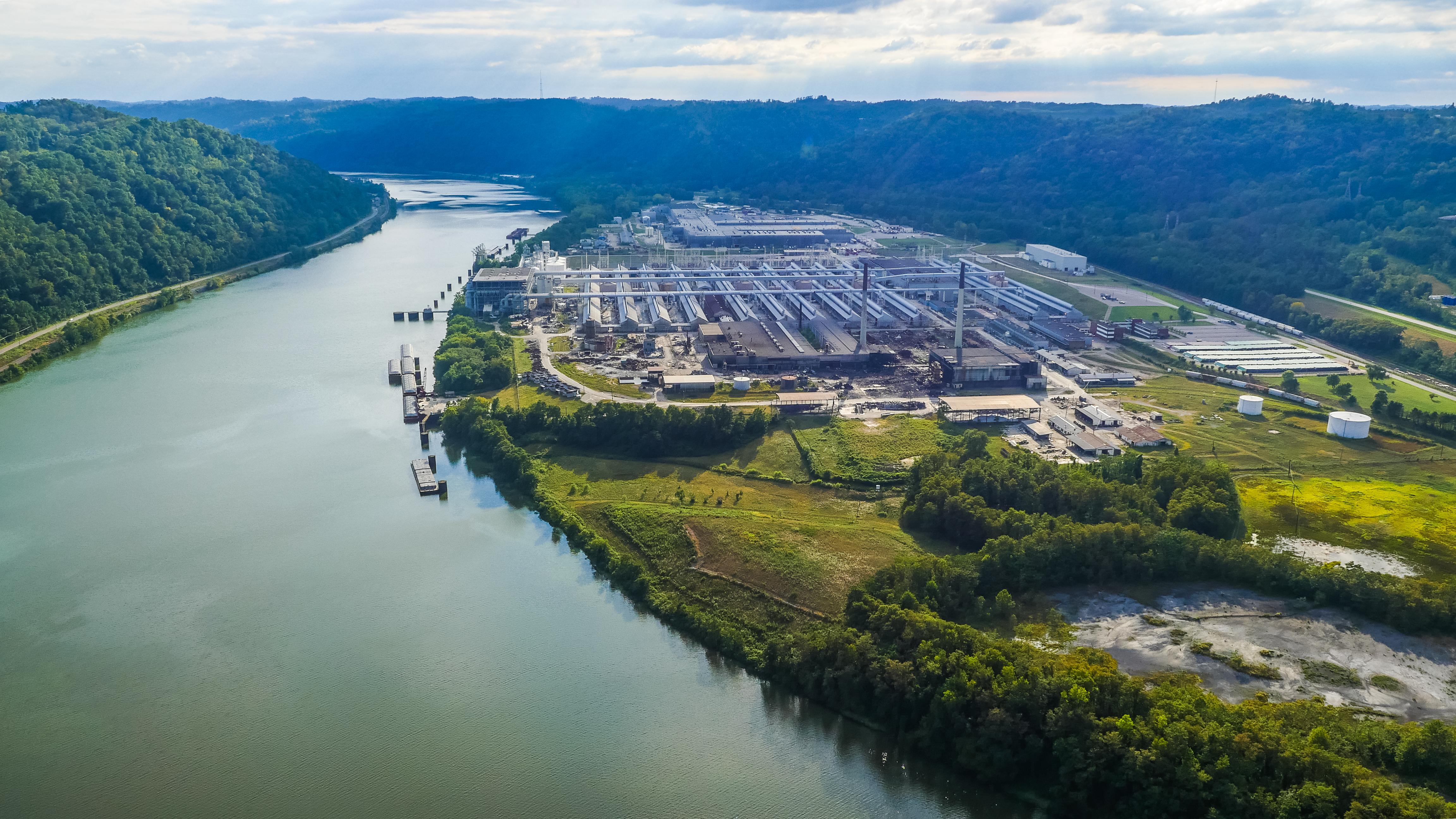 Aerial image of Long Ridge Energy Terminal