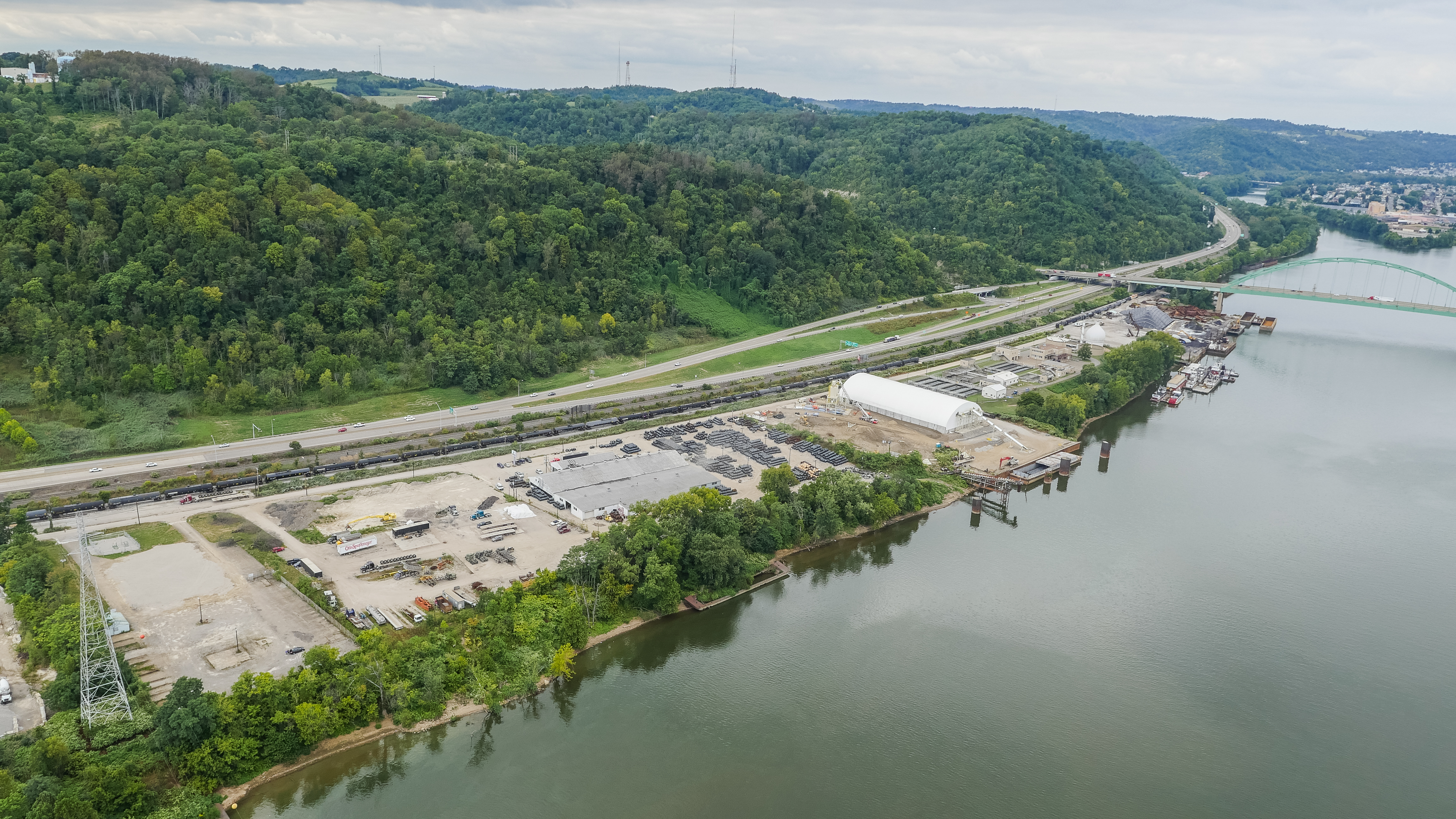 Aerial image of MPR Transloading and Energy Services
