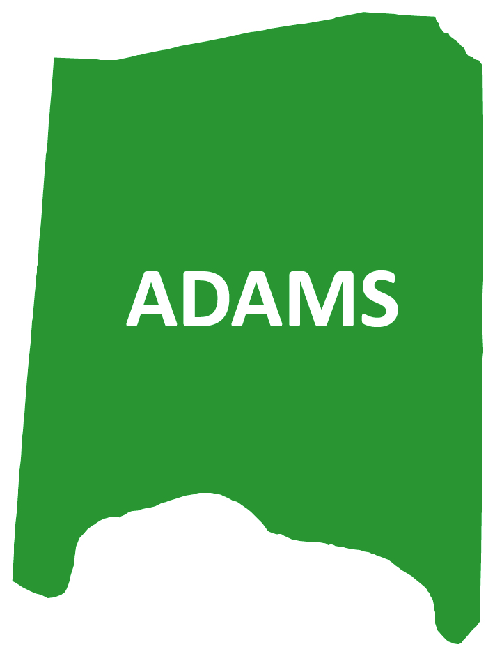 Outline image of Adams County