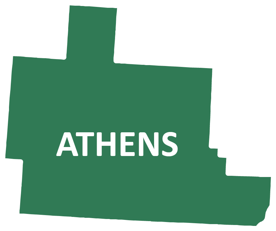 Outline image of Athens County