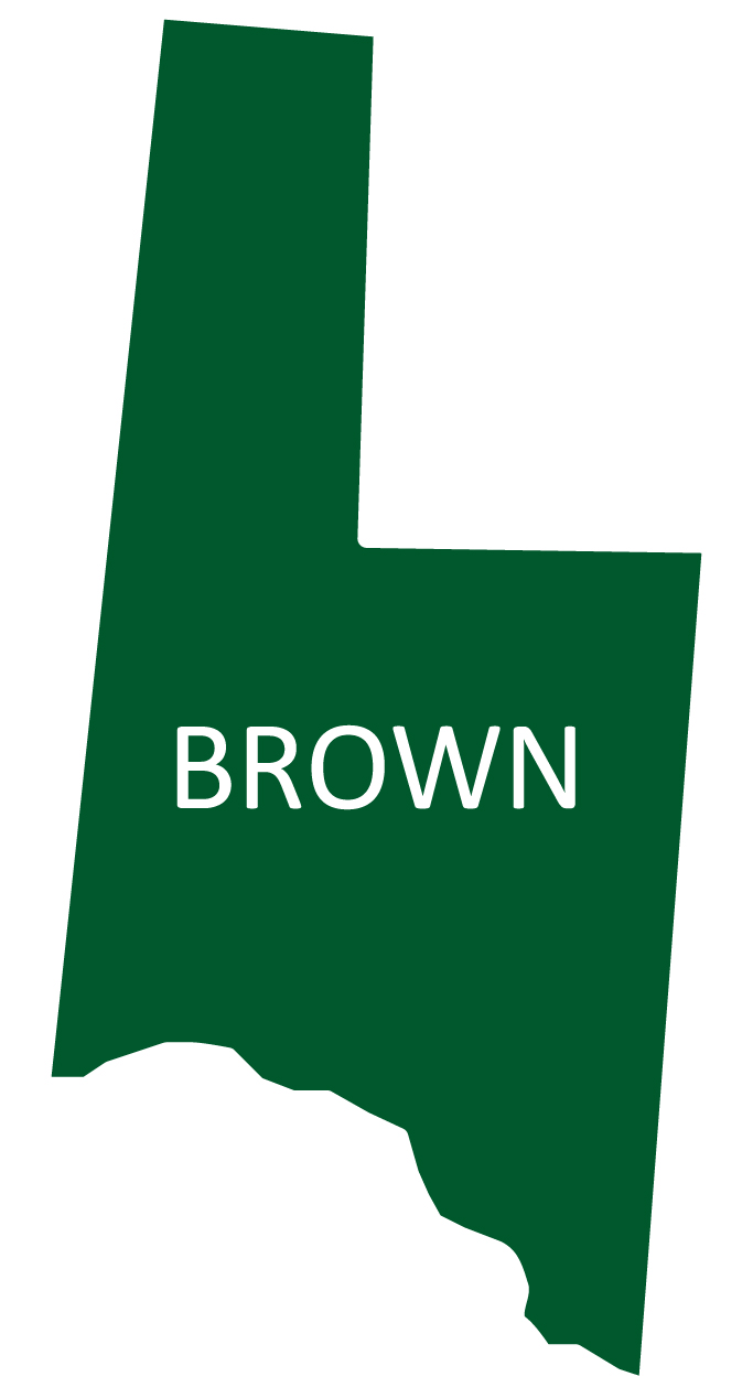 Outline image of Brown County