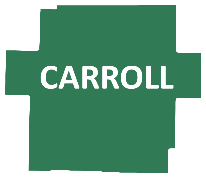 Outline image of Carroll County