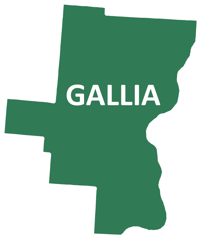 Outline image of Gallia County