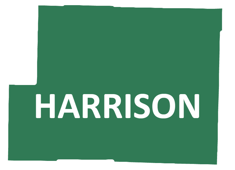 Outline image of Harrison County