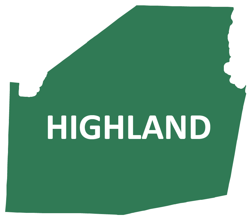Outline image of Highland County