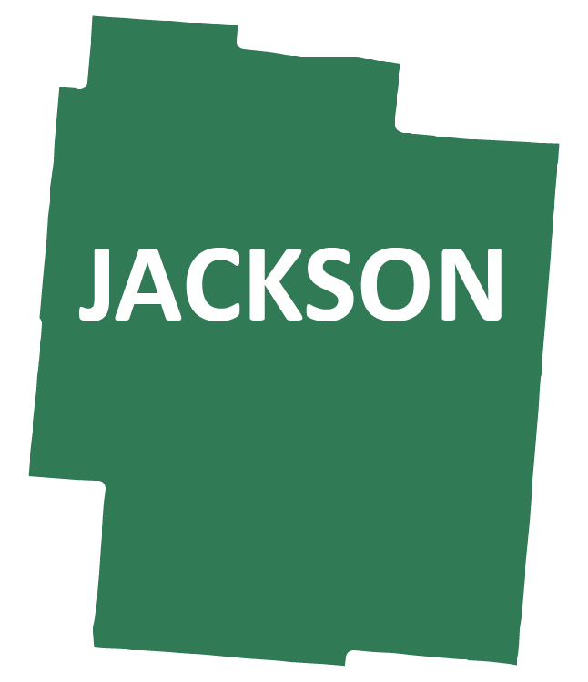 Outline image of Jackson County