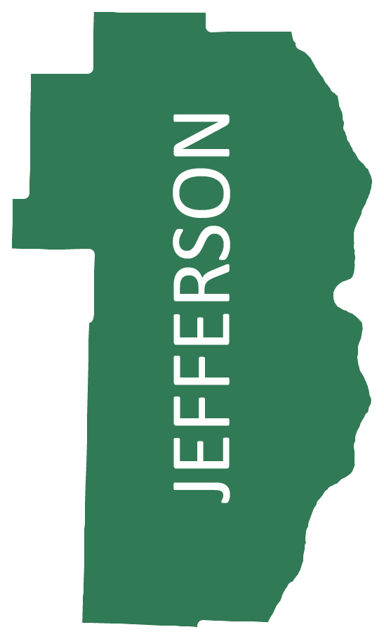 Outline image of Jefferson County