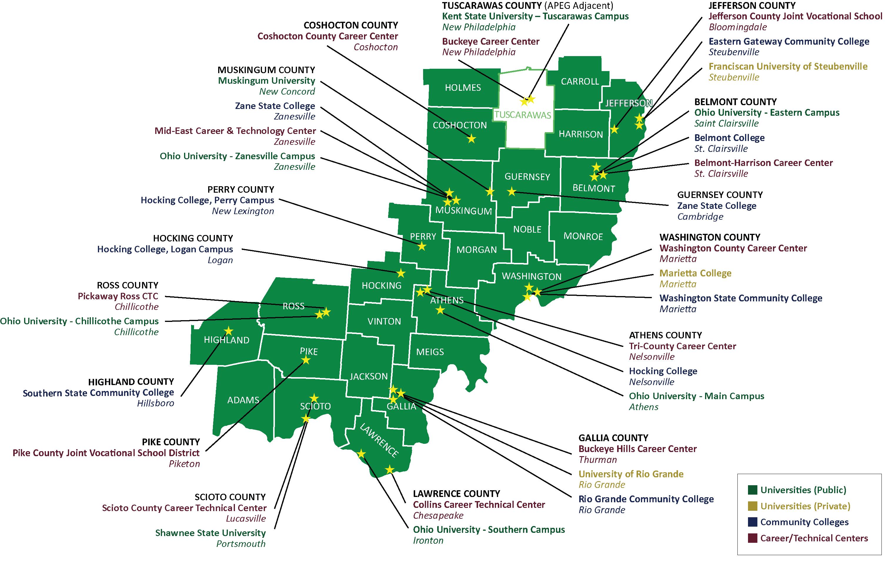 APEG Education - Philadelphia university map
