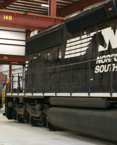 A Norfolk Southern train engine