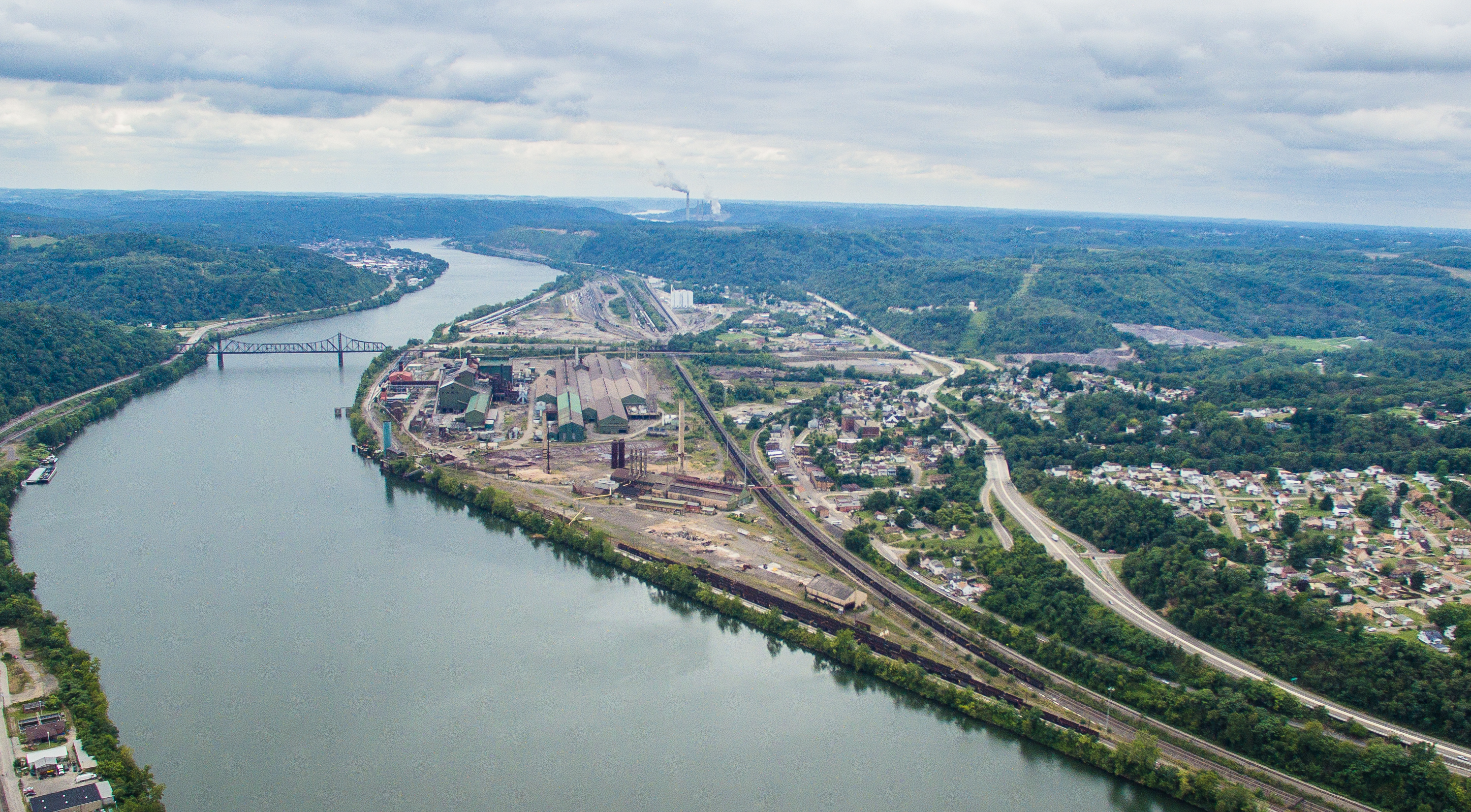 Aerial image of Ohio Valley Industrial Park – North Site