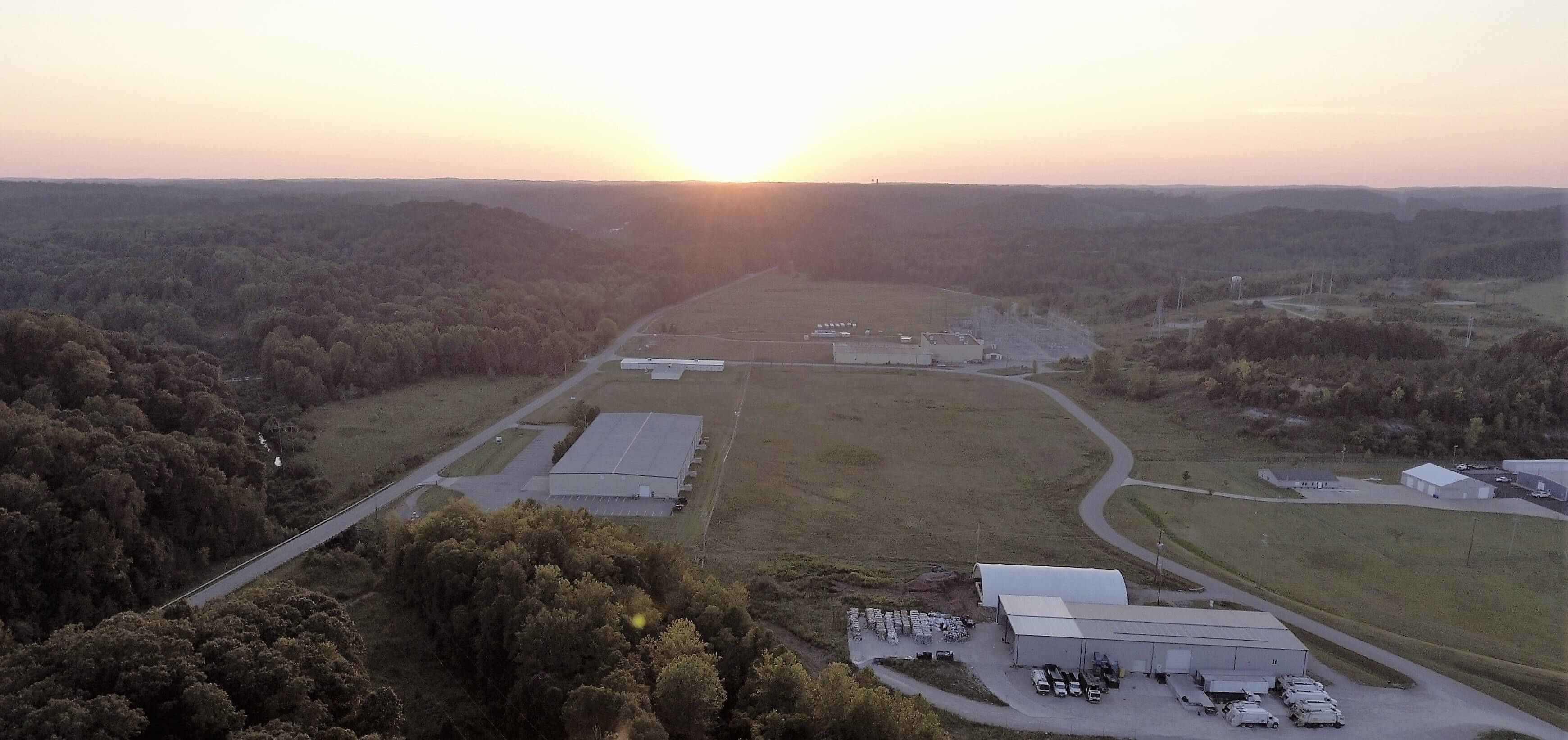 Aerial image of Bill Theisen Industrial Park