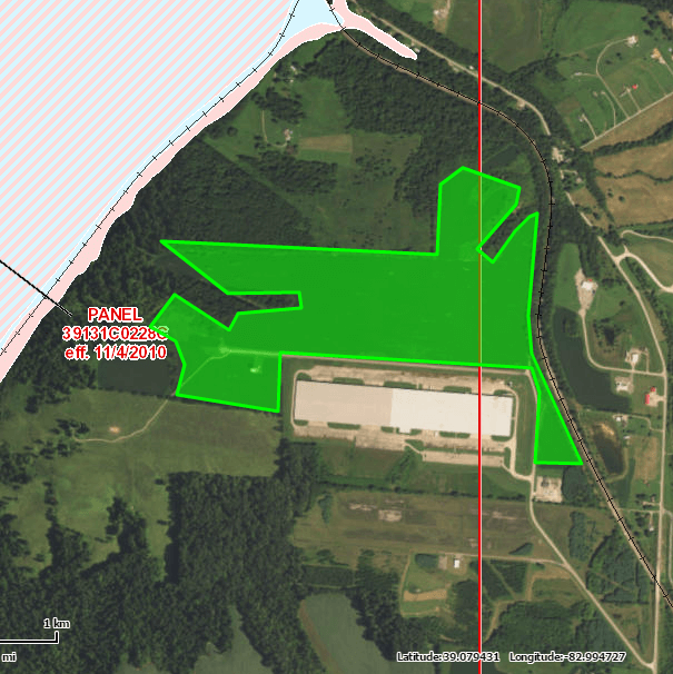 Ohio River Site floodplain map thumbnail